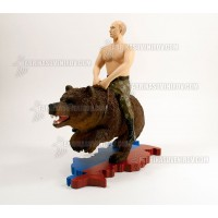 "DISCOUNT ACTION FIGURE ""PUTIN ON A BEAR"""